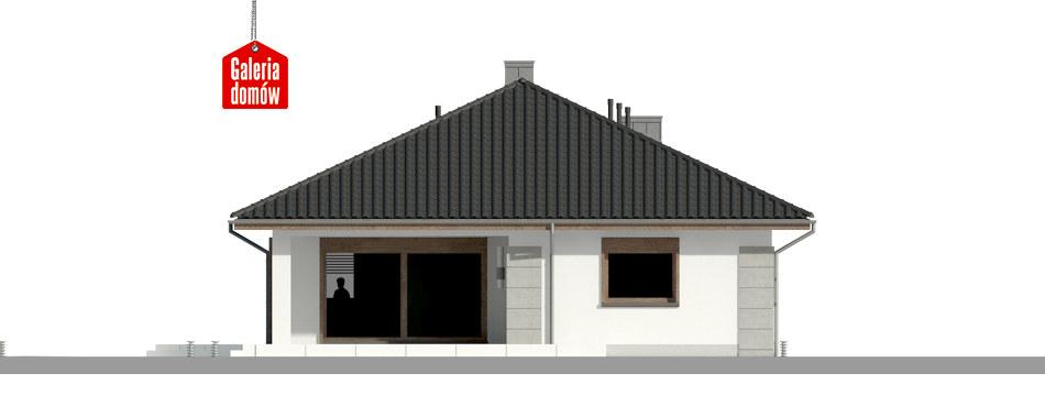 Dom przy Pastelowej 9 - elewacja tylna