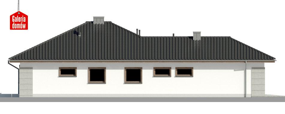 Dom przy Pastelowej 9 - elewacja lewa