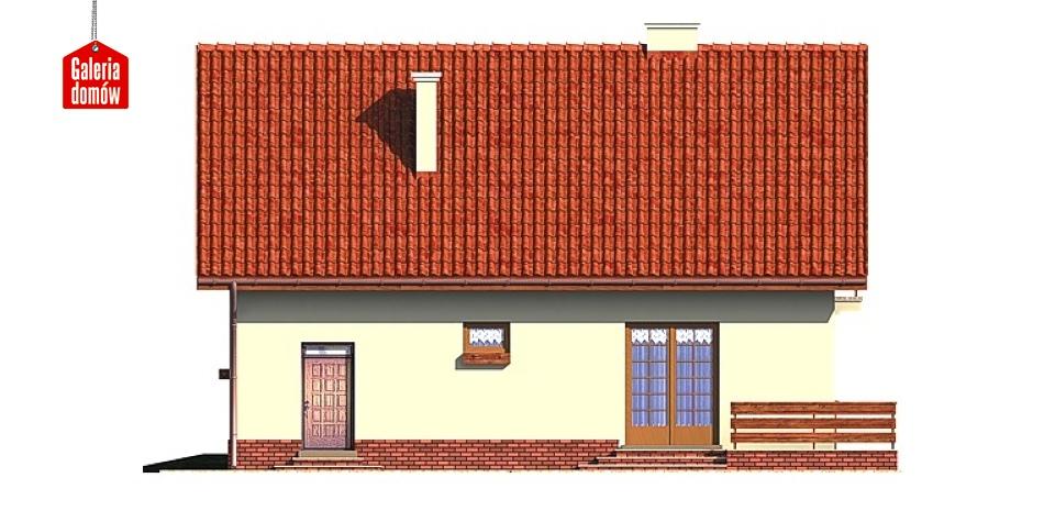 Dom przy Platanowej - elewacja lewa