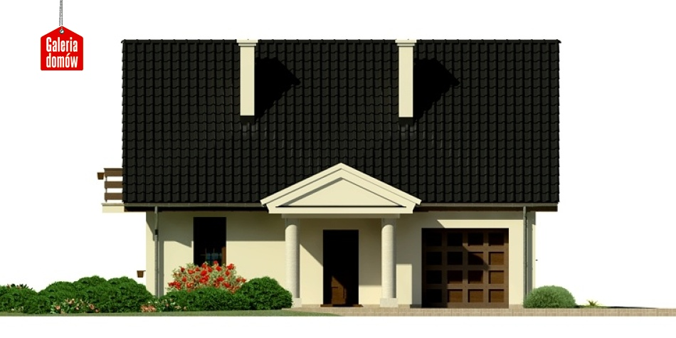 Dom przy Polnej - elewacja frontowa
