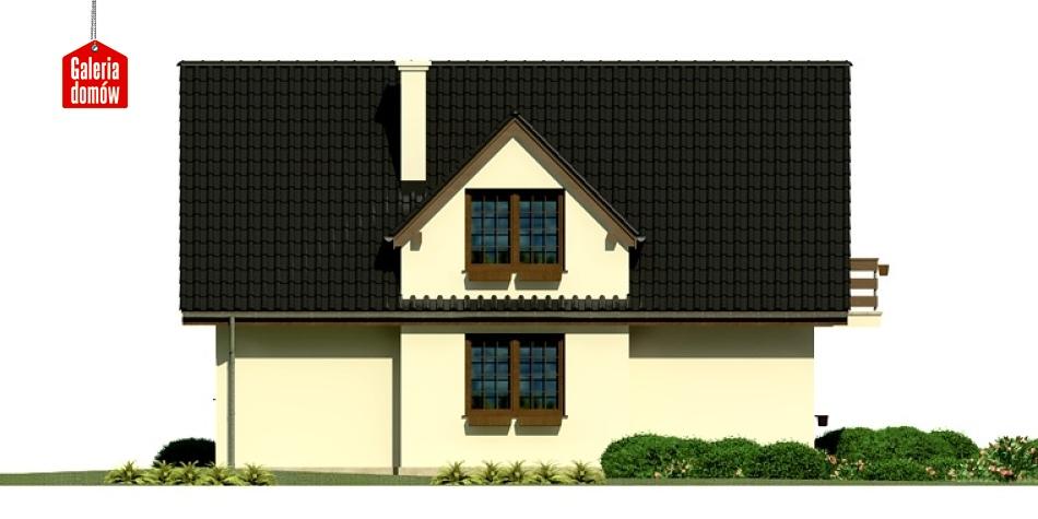 Dom przy Polnej - elewacja tylna
