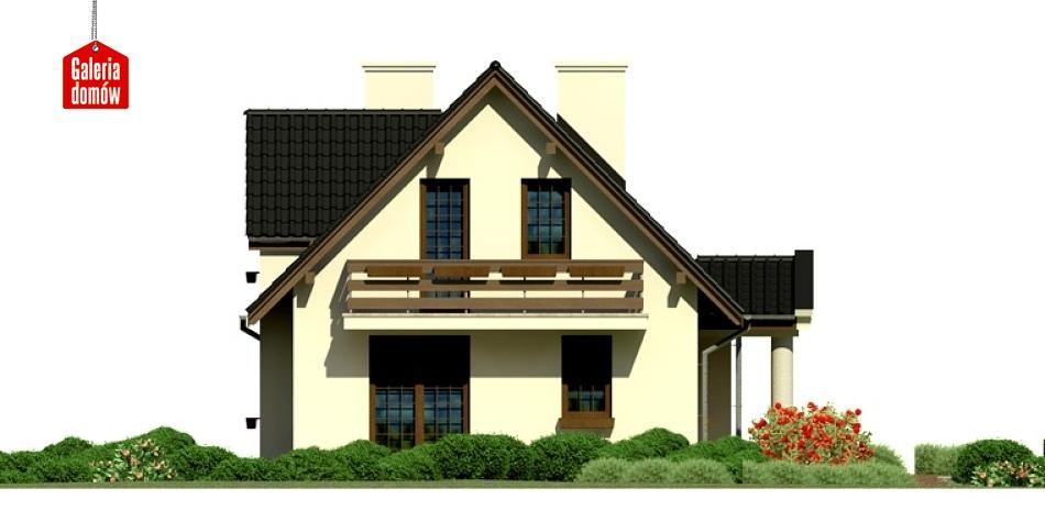 Dom przy Polnej - elewacja lewa