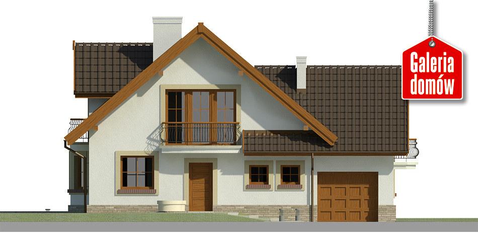 Dom przy Pomarańczowej 2 - elewacja frontowa