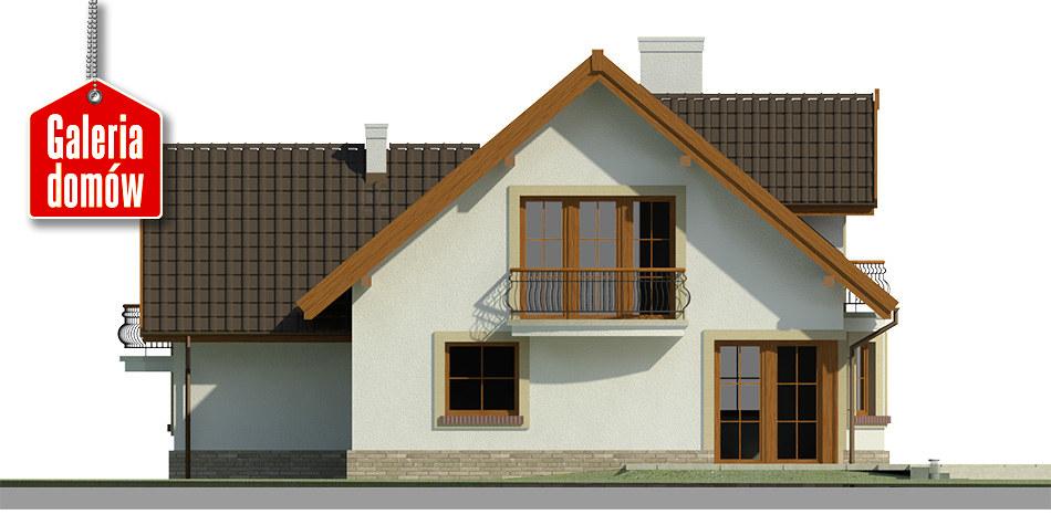 Dom przy Pomarańczowej 2 - elewacja tylna