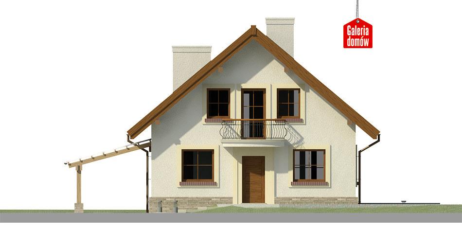 Dom przy Pomarańczowej 3 - elewacja frontowa