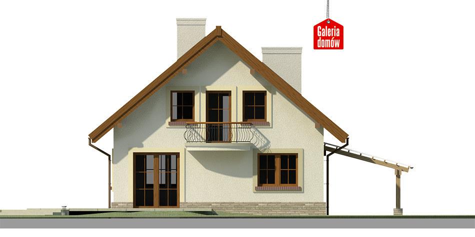 Dom przy Pomarańczowej 3 - elewacja tylna