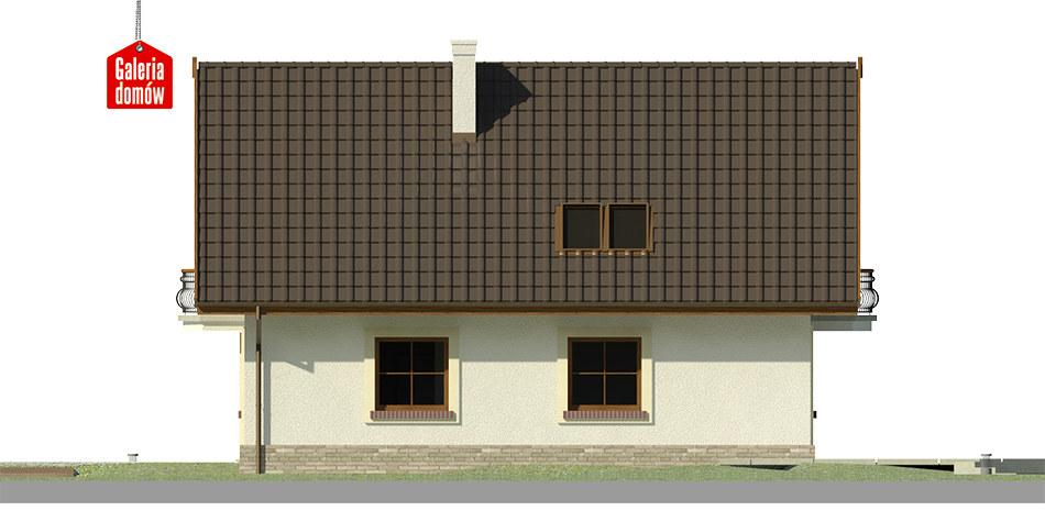Dom przy Pomarańczowej 3 - elewacja lewa