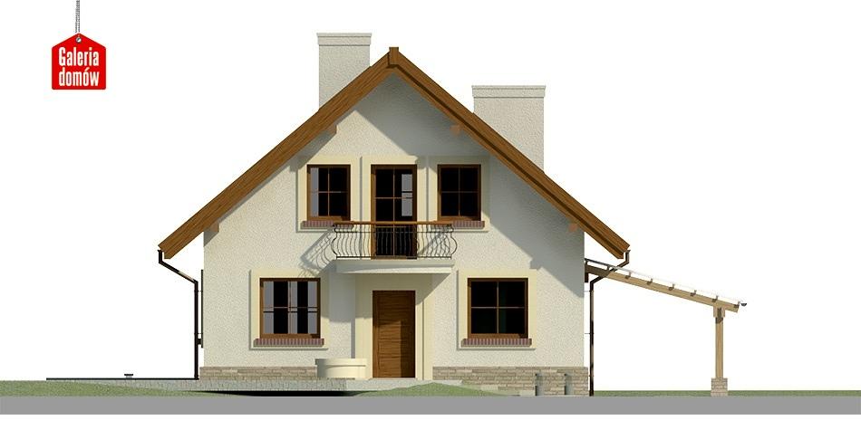 Dom przy Pomarańczowej - elewacja frontowa