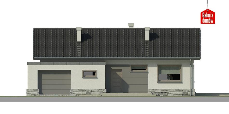 Dom przy Przyjemnej 10 bis - elewacja prawa