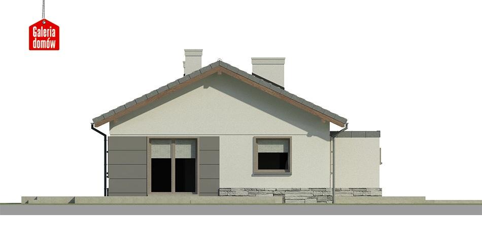 Dom przy Przyjemnej 10 - elewacja frontowa