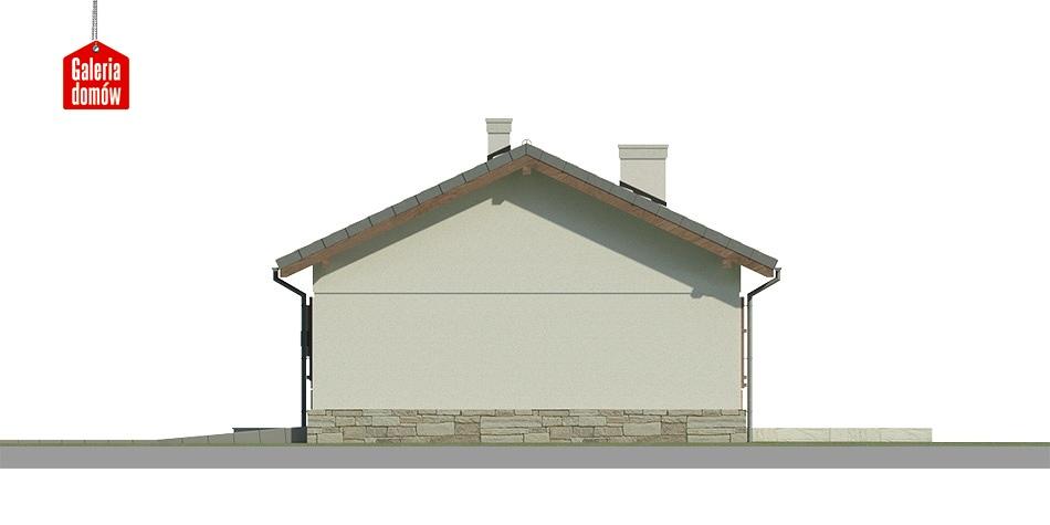 Dom przy Przyjemnej 11 bis - elewacja tylna