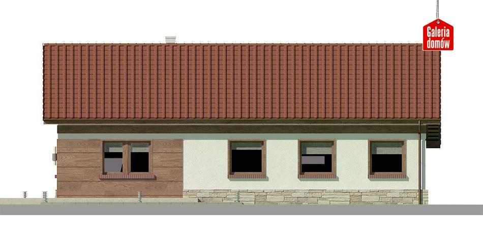 Dom przy Przyjemnej 12 bis - elewacja lewa