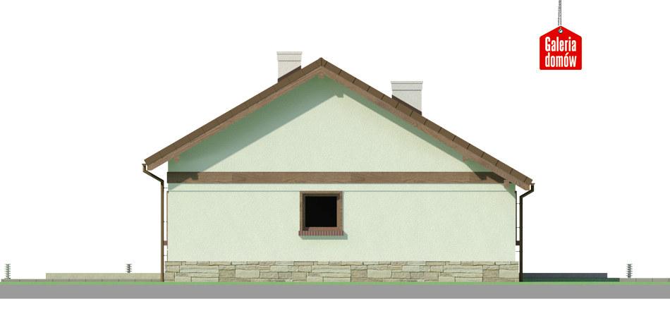 Dom przy Przyjemnej 14 bis - elewacja tylna