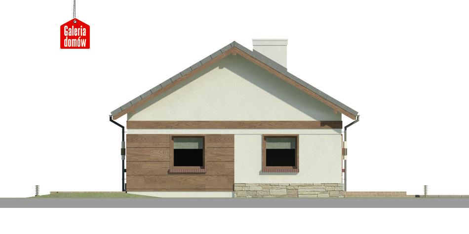Dom przy Przyjemnej 16 bis - elewacja frontowa