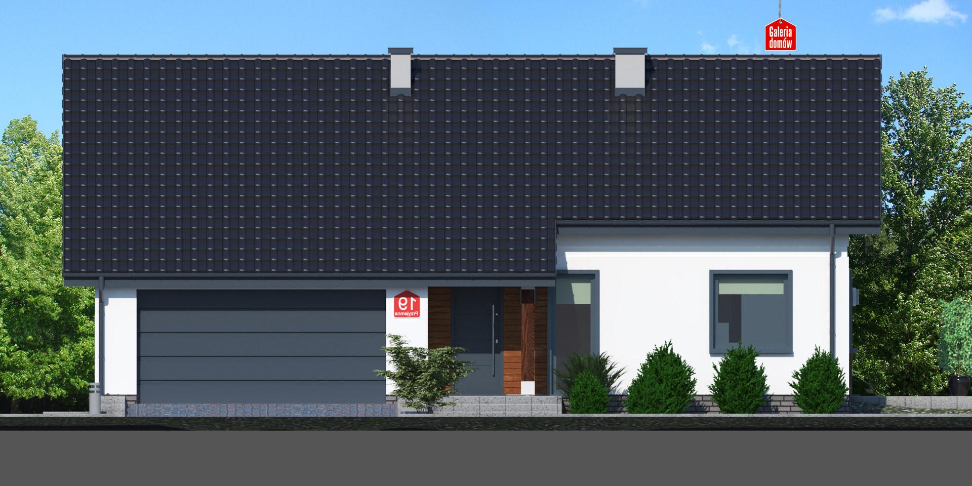 Dom przy Przyjemnej 19 bis - elewacja frontowa