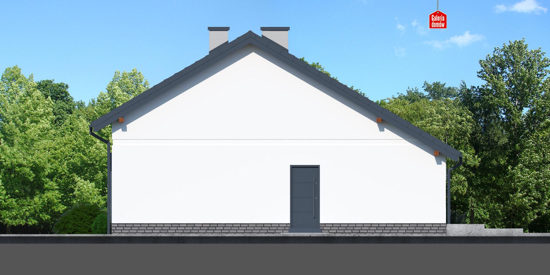 Dom przy Przyjemnej 19 bis - elewacja prawa