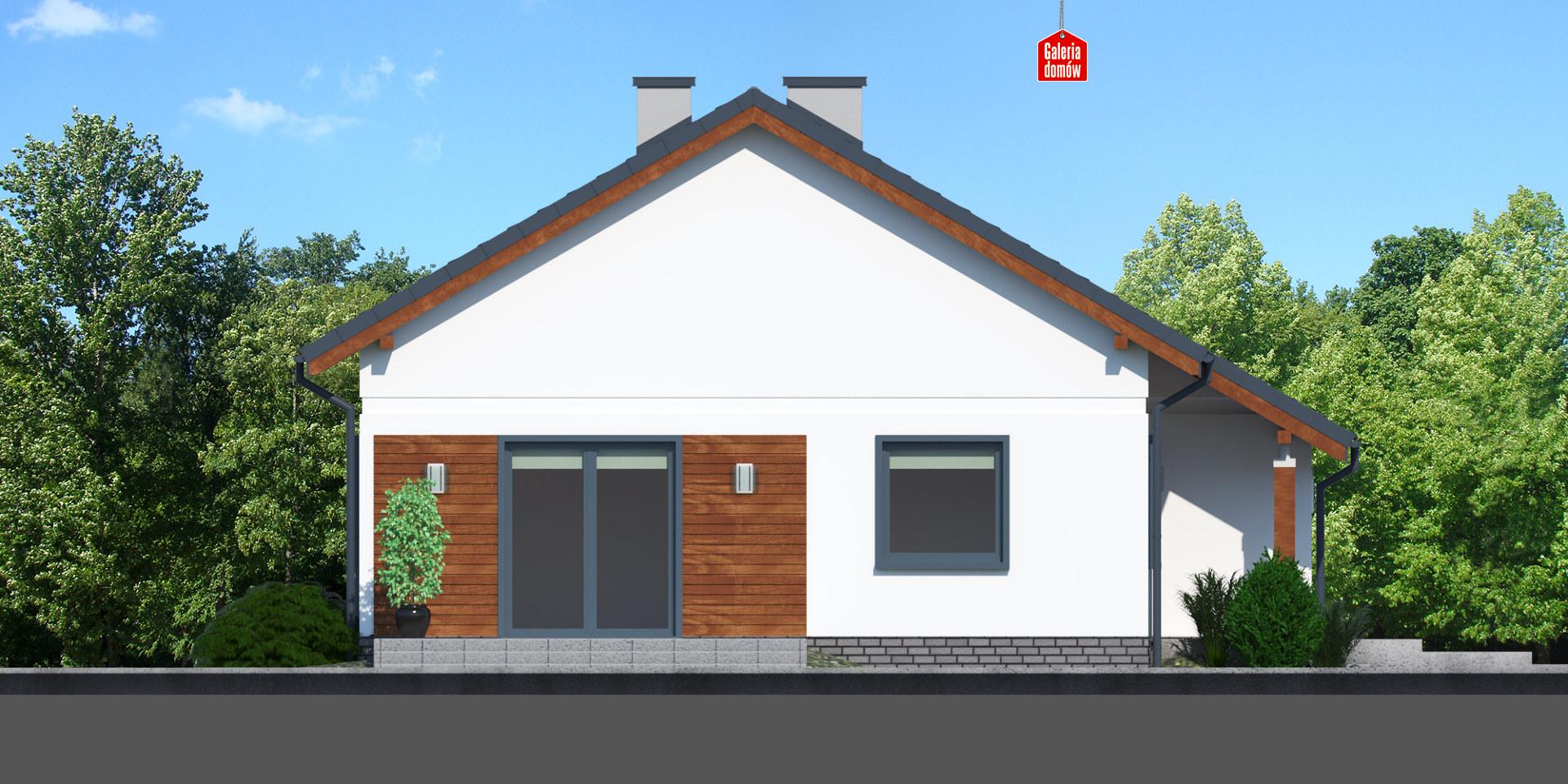 Dom przy Przyjemnej 19 bis - elewacja lewa
