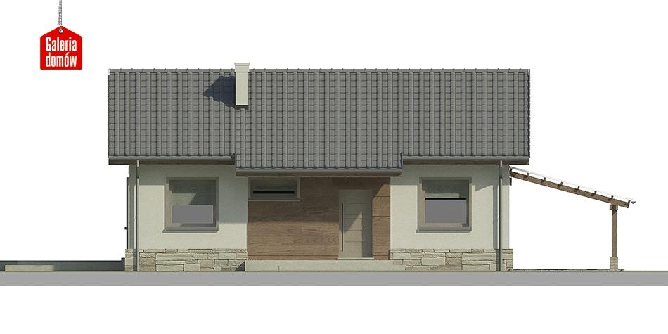 Dom przy Przyjemnej 2 bis - elewacja prawa