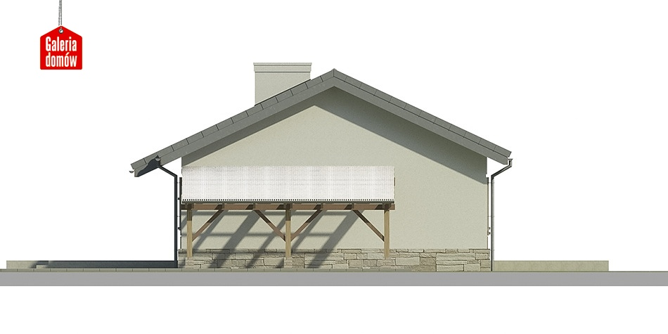 Dom przy Przyjemnej 2 bis - elewacja tylna