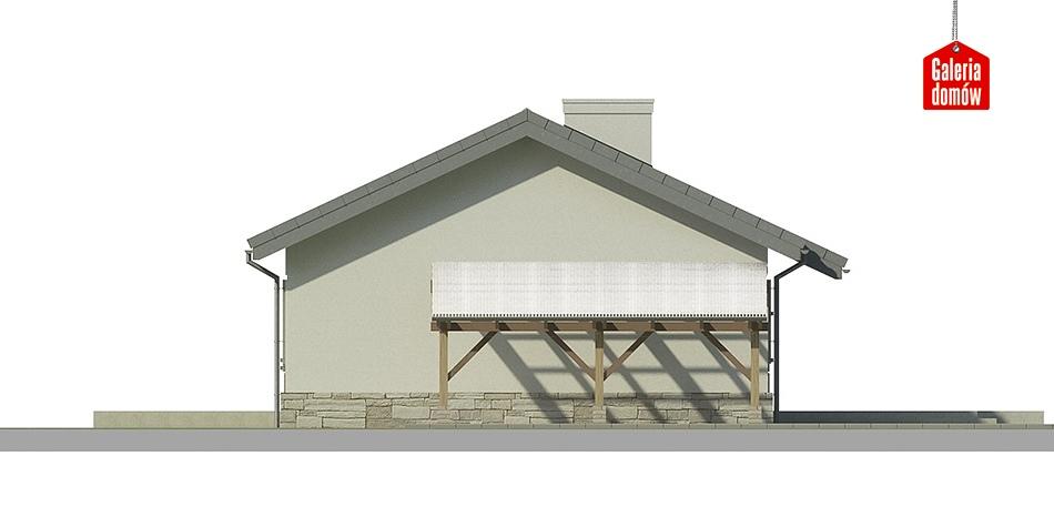 Dom przy Przyjemnej 2 - elewacja tylna