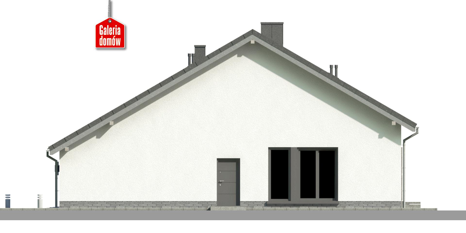 Dom przy Przyjemnej 20 bis - elewacja prawa
