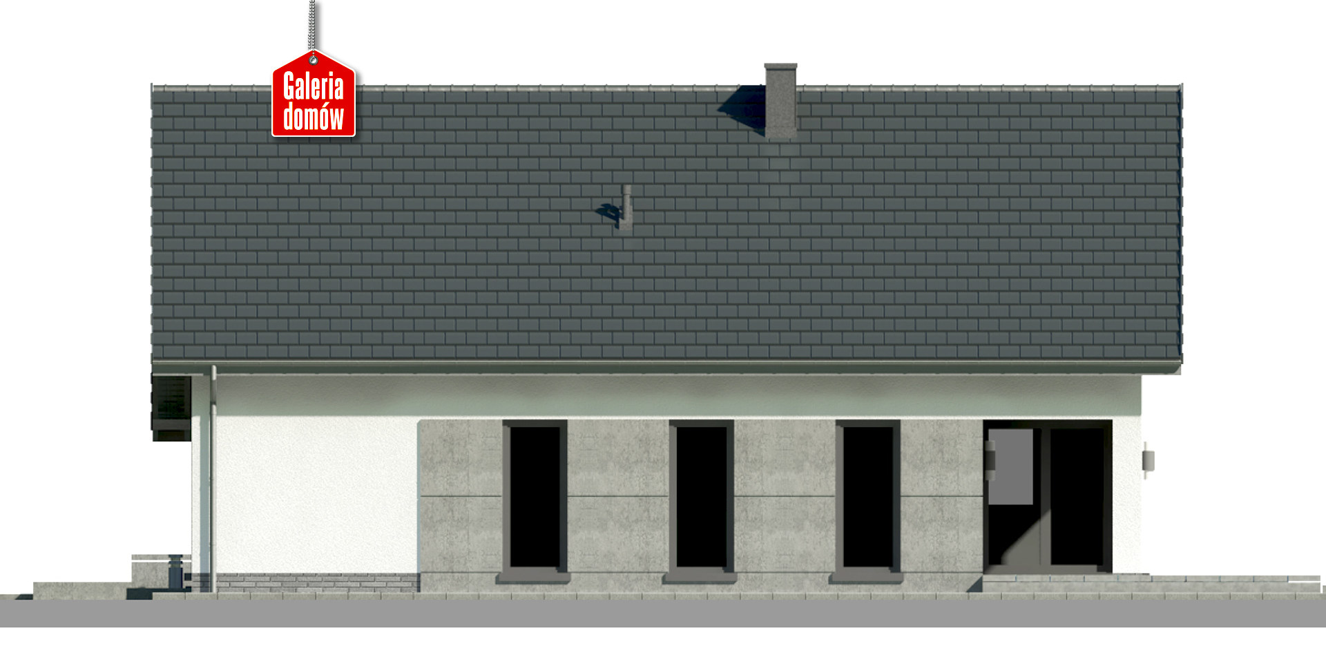 Dom przy Przyjemnej 20 bis - elewacja tylna