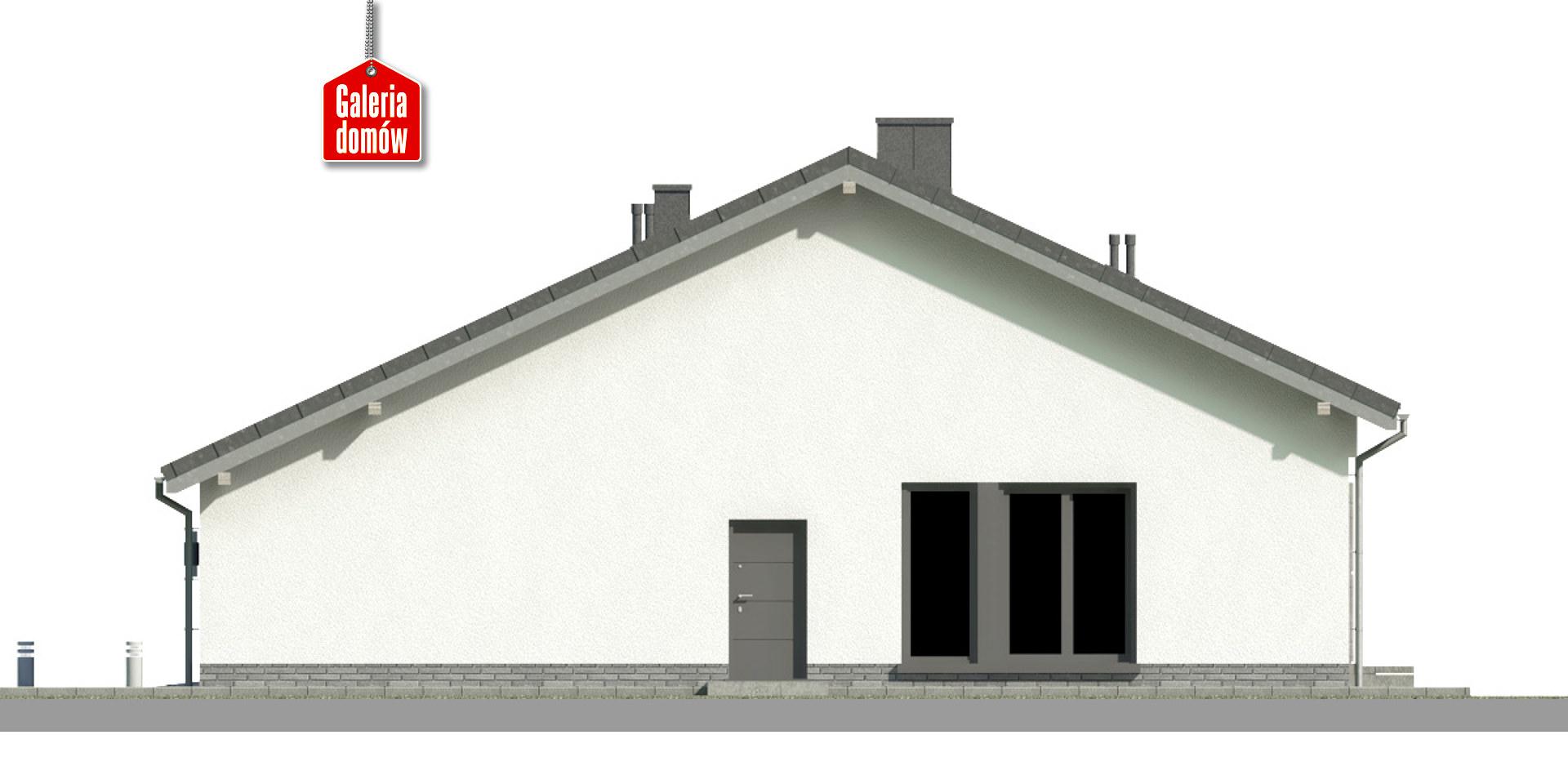 Dom przy Przyjemnej 20 - elewacja prawa