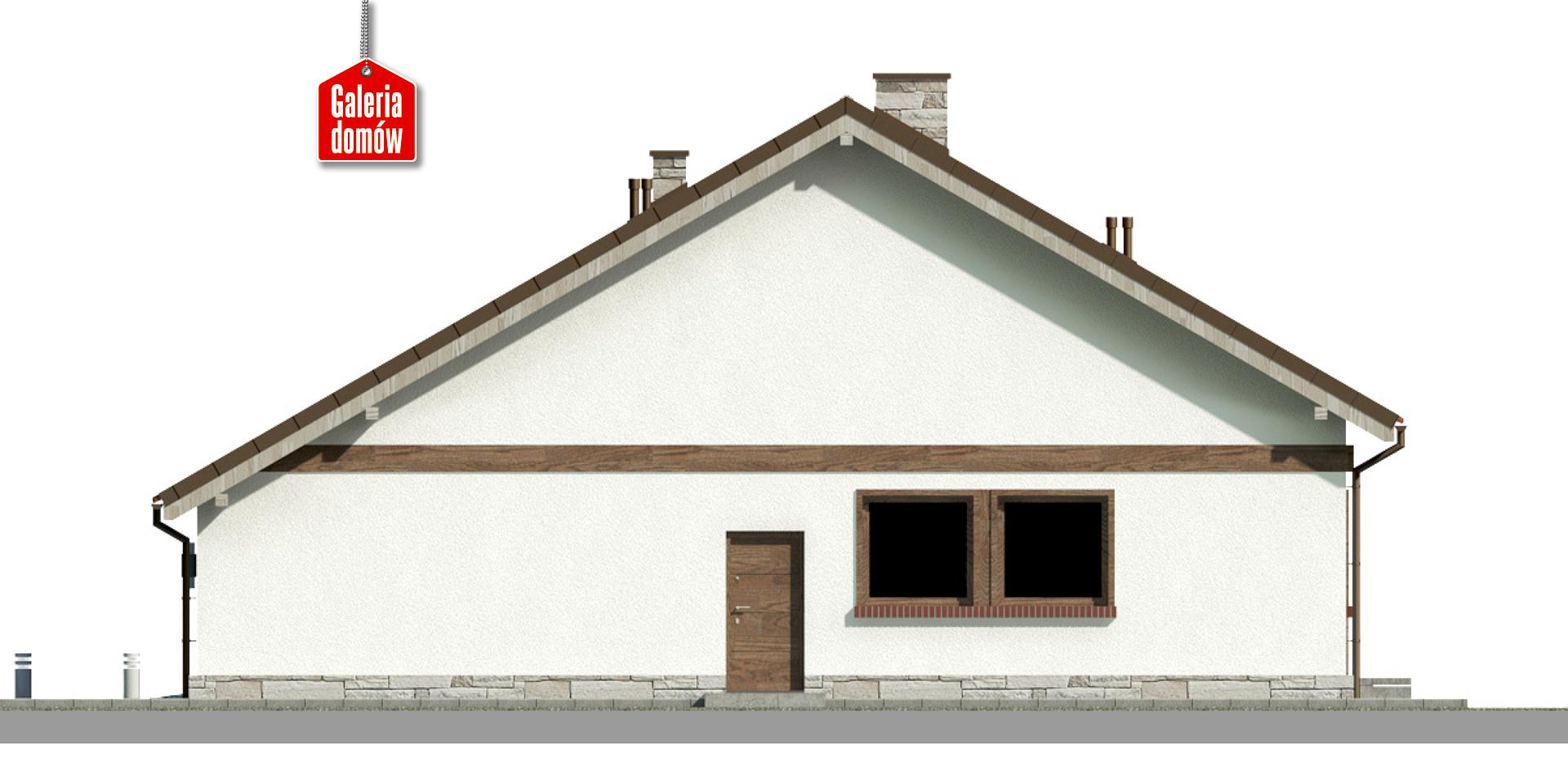 Dom przy Przyjemnej 21 bis - elewacja prawa