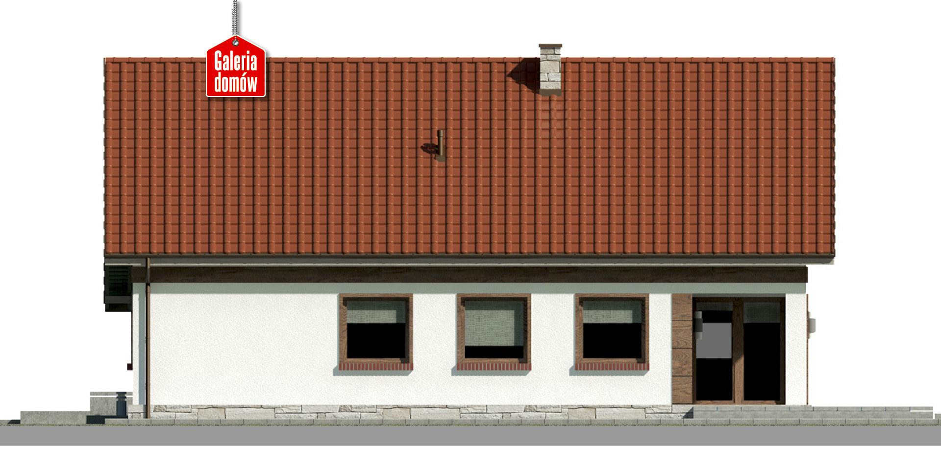Dom przy Przyjemnej 21 bis - elewacja tylna
