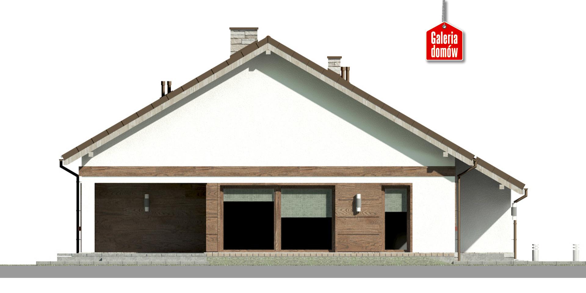 Dom przy Przyjemnej 21 bis - elewacja lewa