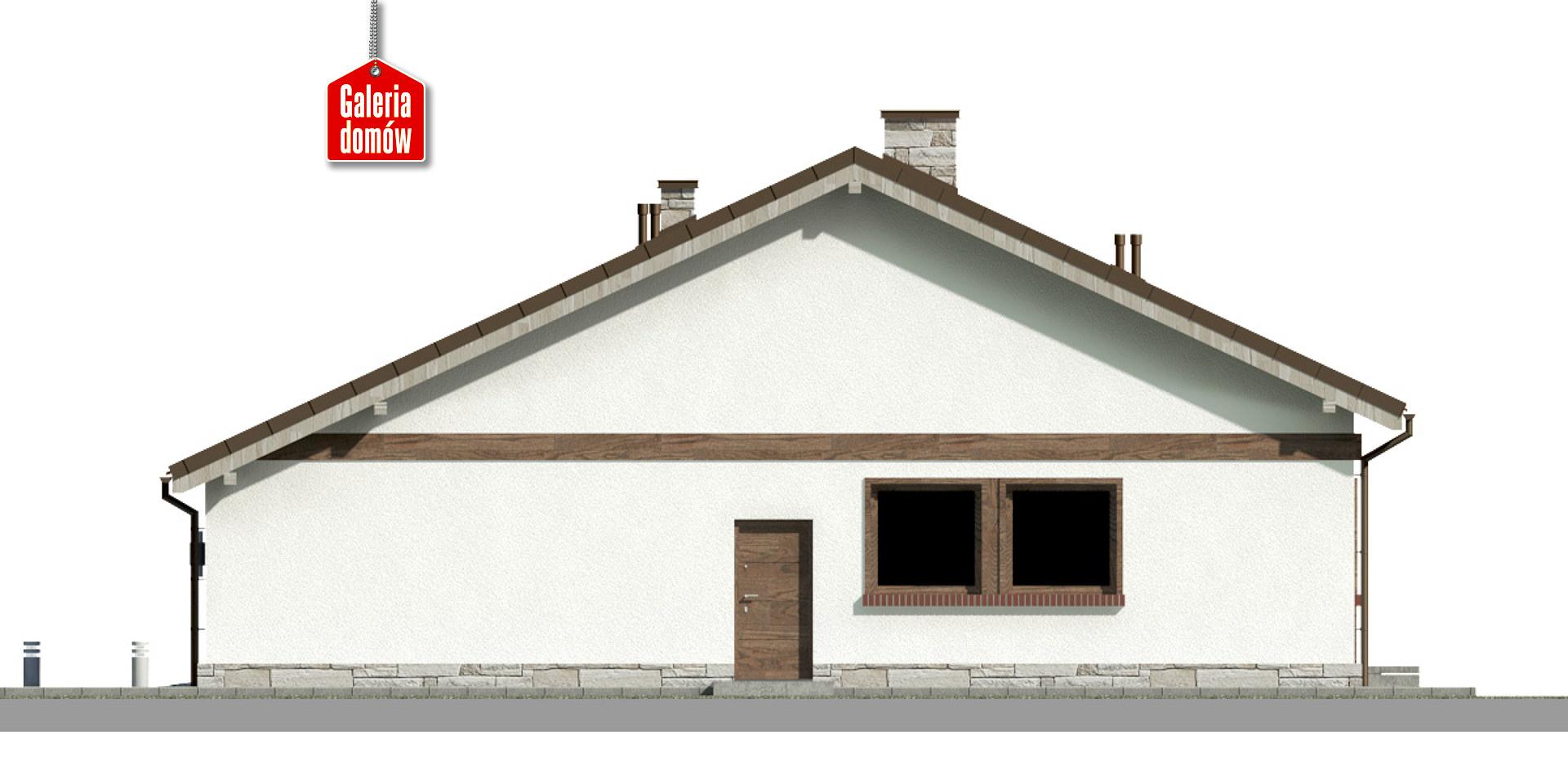 Dom przy Przyjemnej 21 - elewacja prawa
