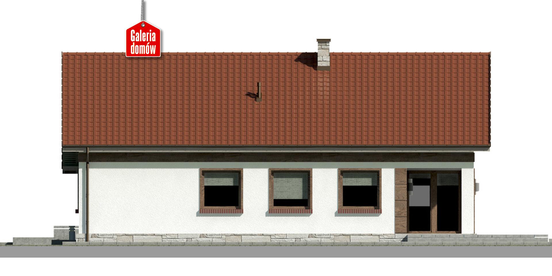 Dom przy Przyjemnej 21 - elewacja tylna
