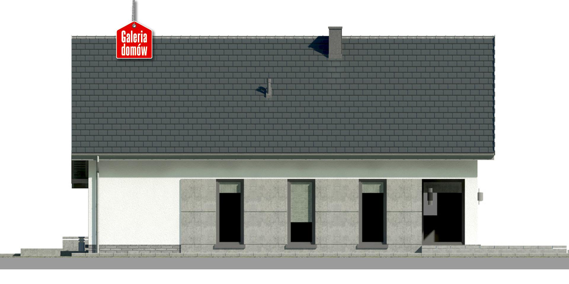 Dom przy Przyjemnej 22 bis - elewacja tylna
