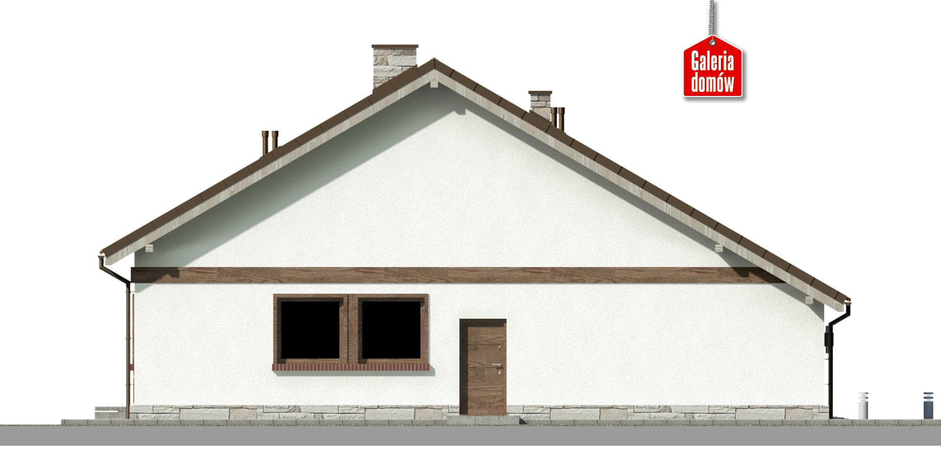 Dom przy Przyjemnej 23 bis - elewacja prawa