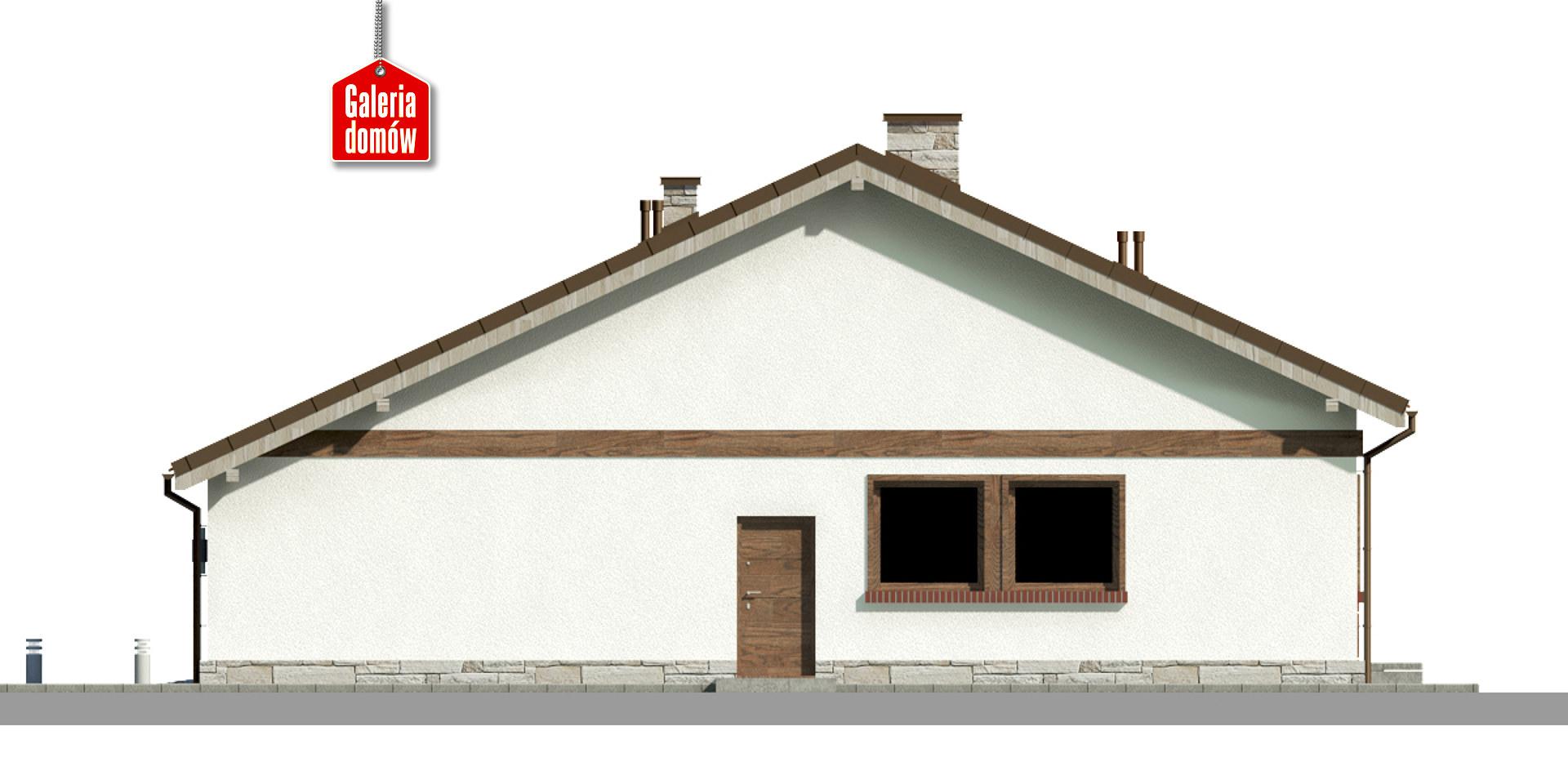 Dom przy Przyjemnej 23 - elewacja prawa