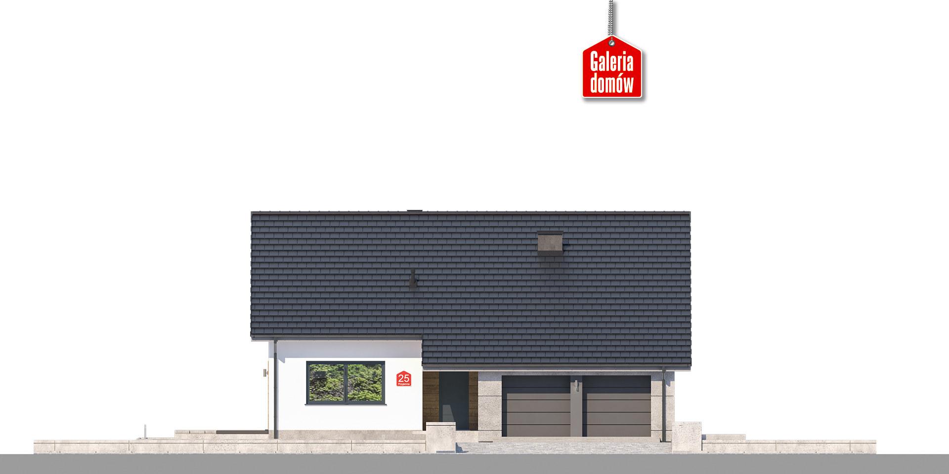 Dom przy Przyjemnej 25 bis - elewacja frontowa