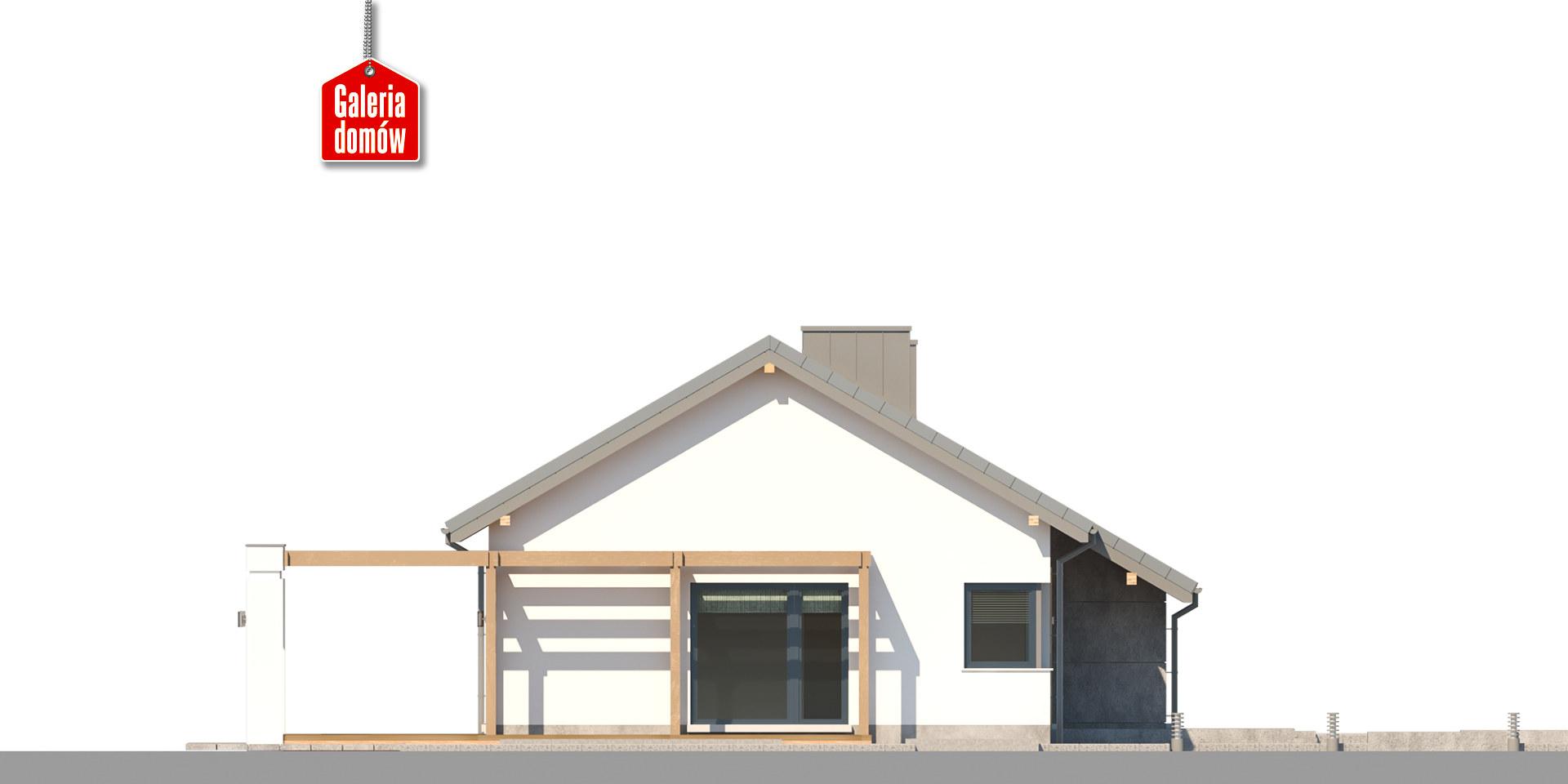 Dom przy Przyjemnej 26 bis - elewacja lewa