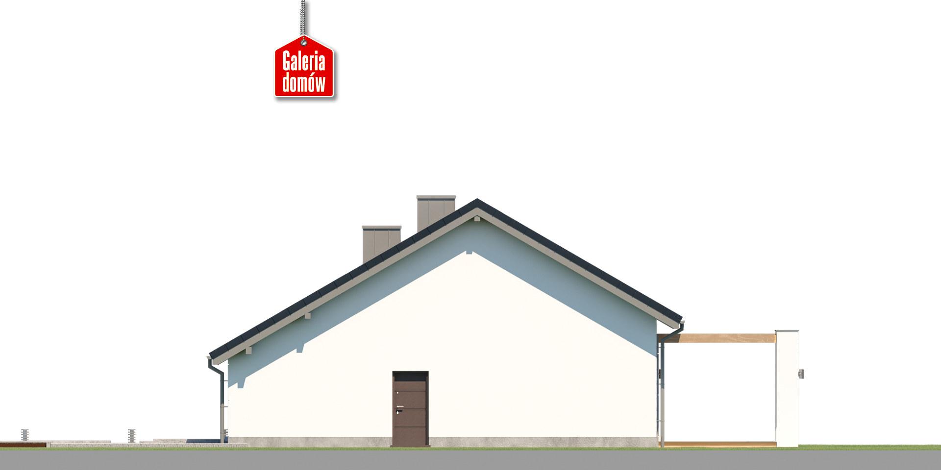 Dom przy Przyjemnej 28 bis - elewacja prawa
