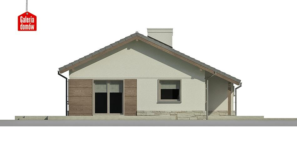 Dom przy Przyjemnej 5 - elewacja frontowa