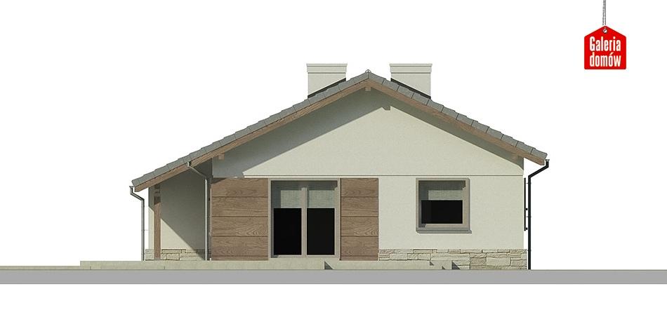 Dom przy Przyjemnej 6 bis - elewacja frontowa