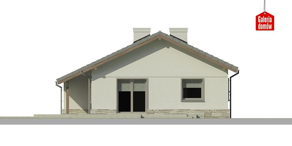 Dom przy Przyjemnej 7 - elewacja frontowa
