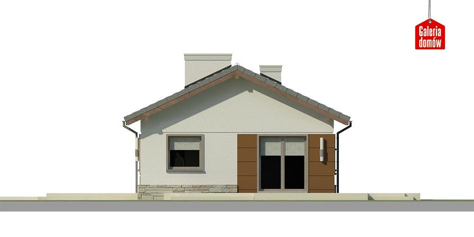 Dom przy Przyjemnej 8 bis - elewacja frontowa