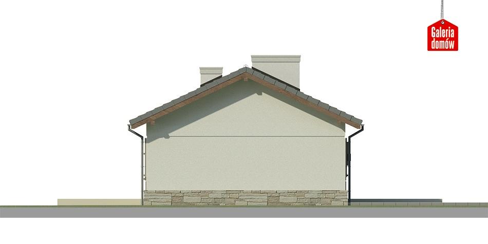 Dom przy Przyjemnej 8 bis - elewacja tylna