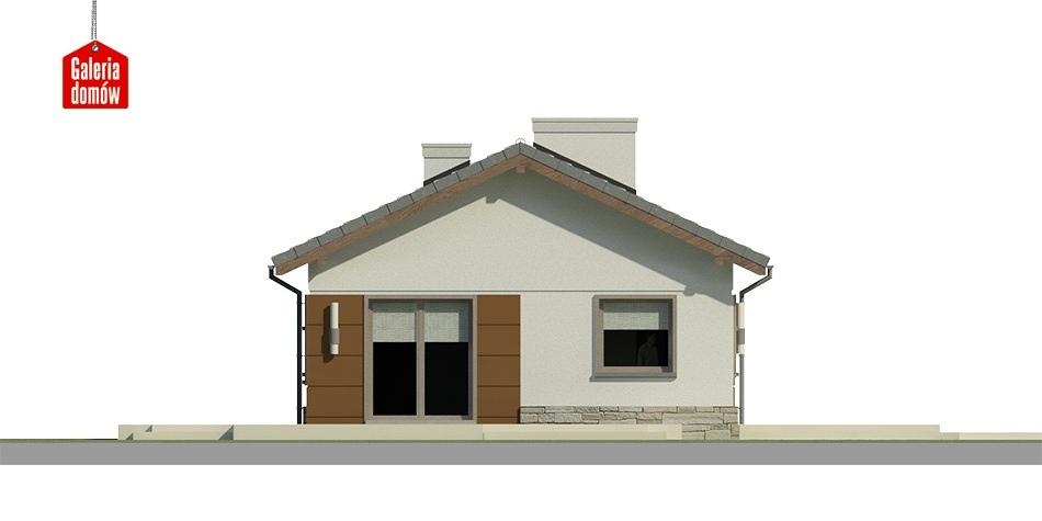 Dom przy Przyjemnej 8 - elewacja frontowa