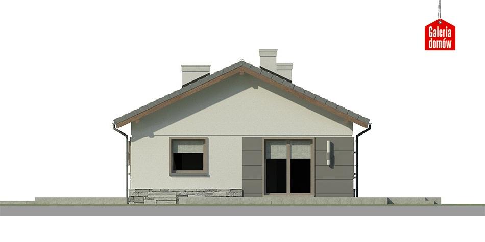 Dom przy Przyjemnej 9 bis - elewacja frontowa