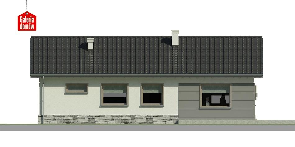 Dom przy Przyjemnej 9 - elewacja lewa