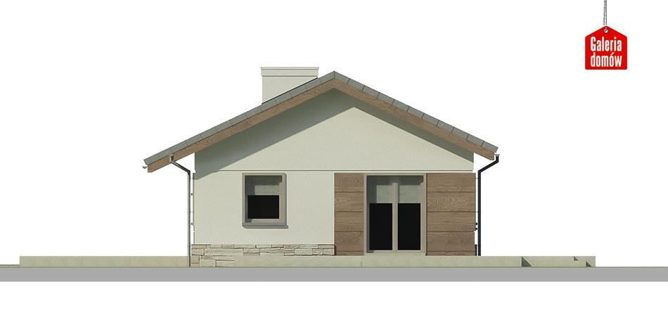 Dom przy Przyjemnej bis - elewacja frontowa