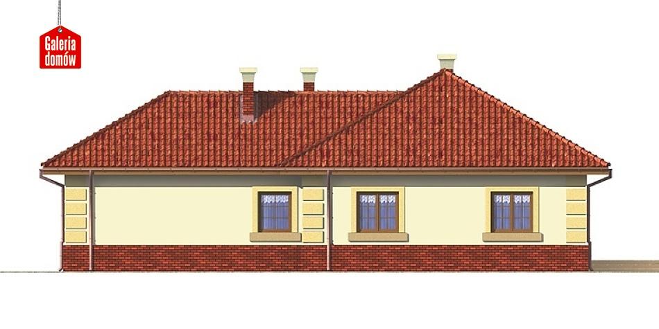Dom przy Romantycznej - elewacja tylna