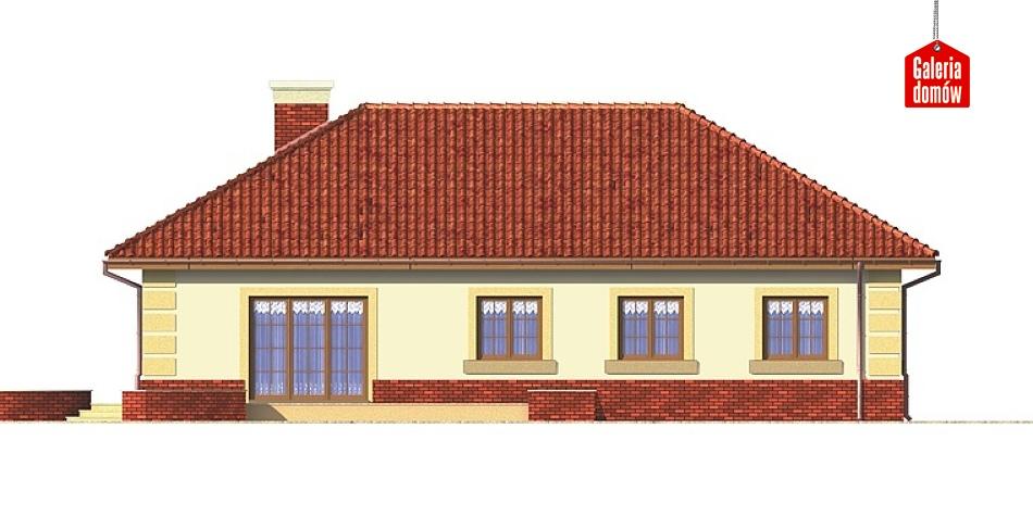Dom przy Romantycznej - elewacja lewa