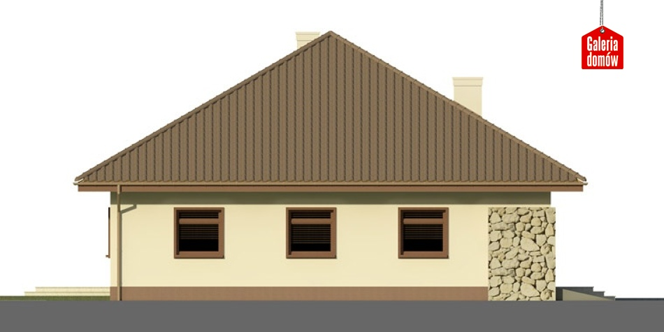 Dom przy Rubinowej 2 - elewacja prawa